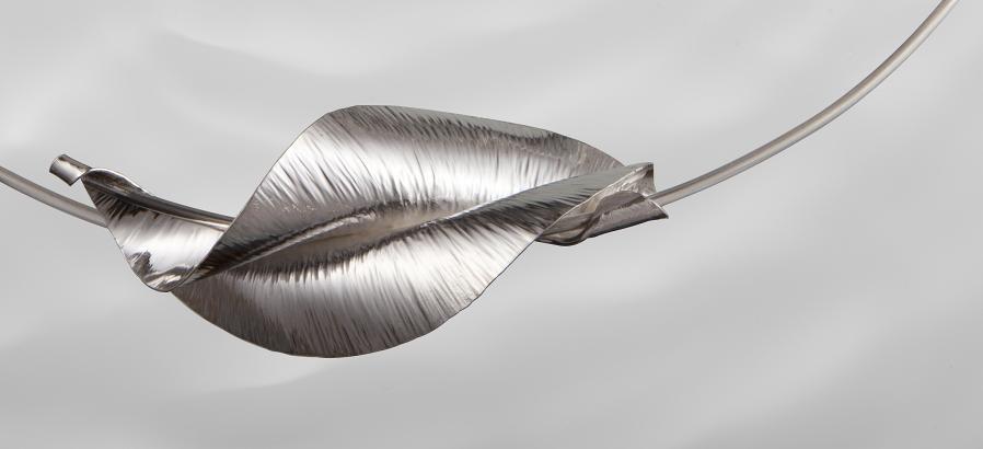 Silver Spindrift neckpiece